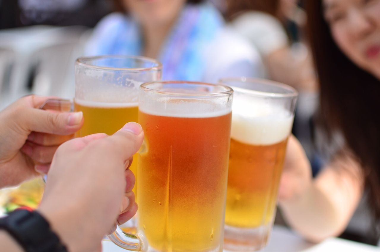 Beautiful stock photos of beer, Beer - Alcohol, Celebration, Celebratory Toast, Close-Up