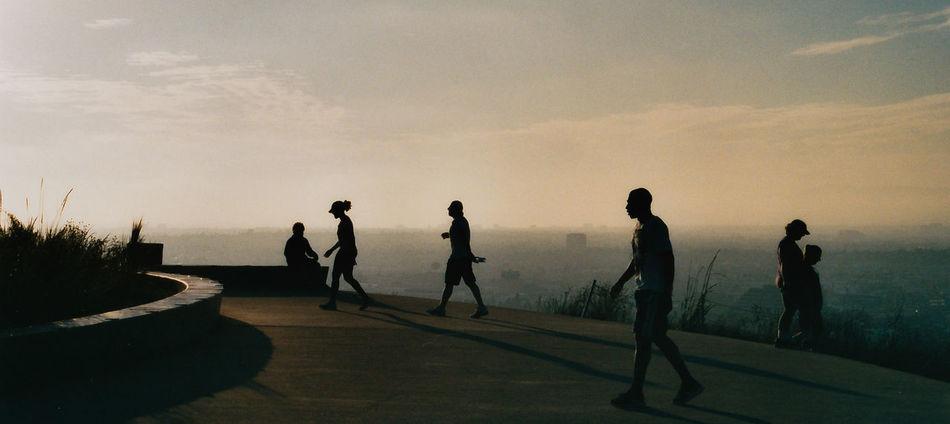 Beautiful stock photos of silhouette, Cloud, Dusk, Horizon Over Land, Leisure Activity