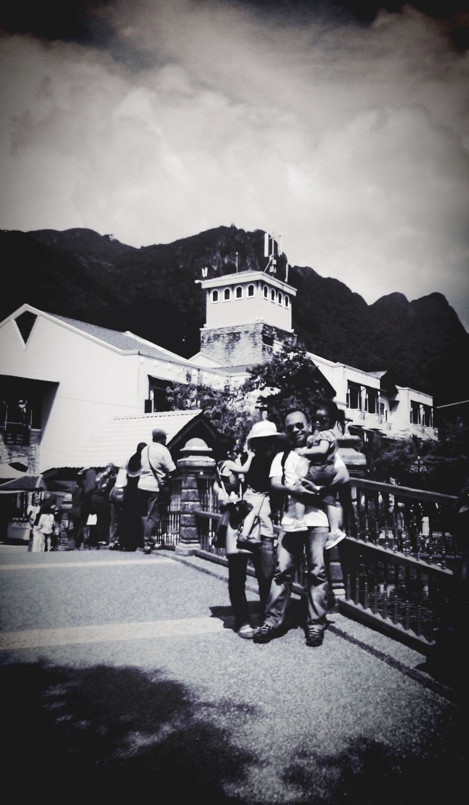Once upon a time.... Oriental Village Family Vacation Vintage Black And White