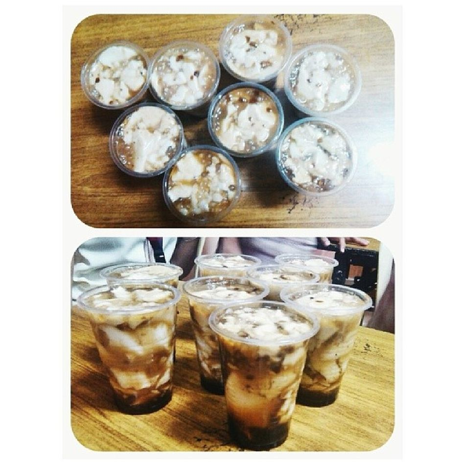 Taho with them sa among 6:00-7:30pm class :') Taho