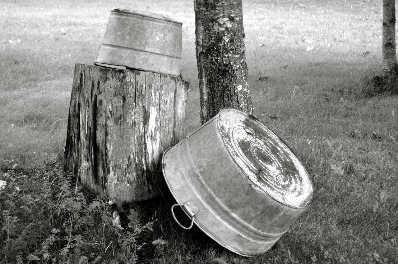 Abandoned Damaged Day Man Made Object Memories Metal No People Old Outdoors The Past Wash Bin Weathered