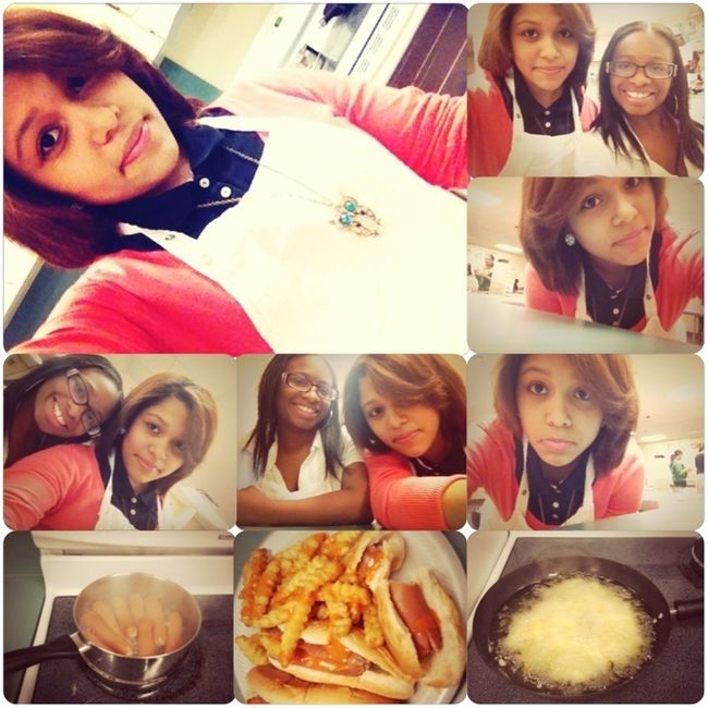 In cooking class ☺