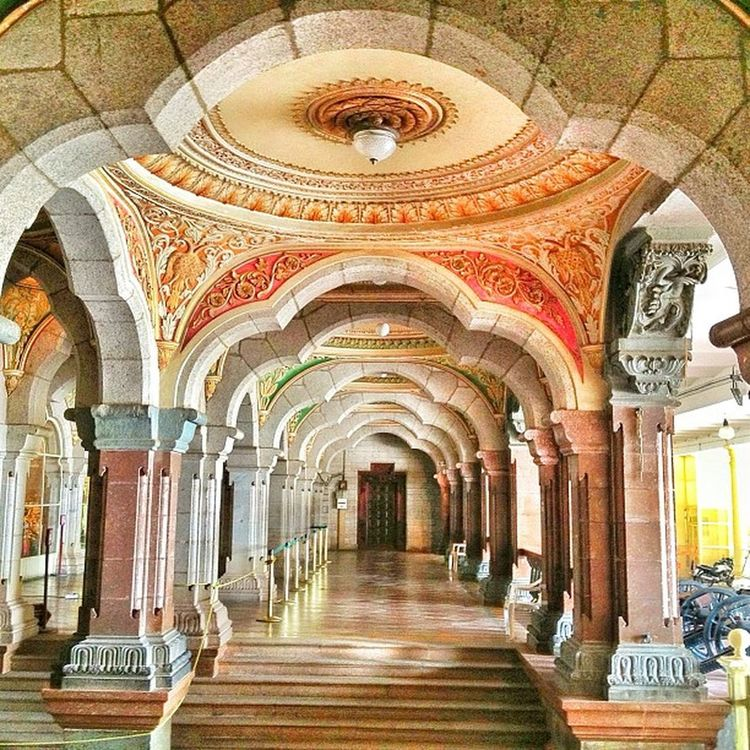 The hallway of arches a beautiful palace in Mysore India Tipusultan Instaindia Likesforlikes
