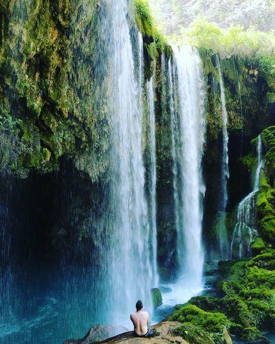 Myobjectiv Benimobjektifim One Person Water Waterfall Beauty In Nature Outdoors People One Man Only Sky Osmanbalikci Mersin Mut Yerköprü