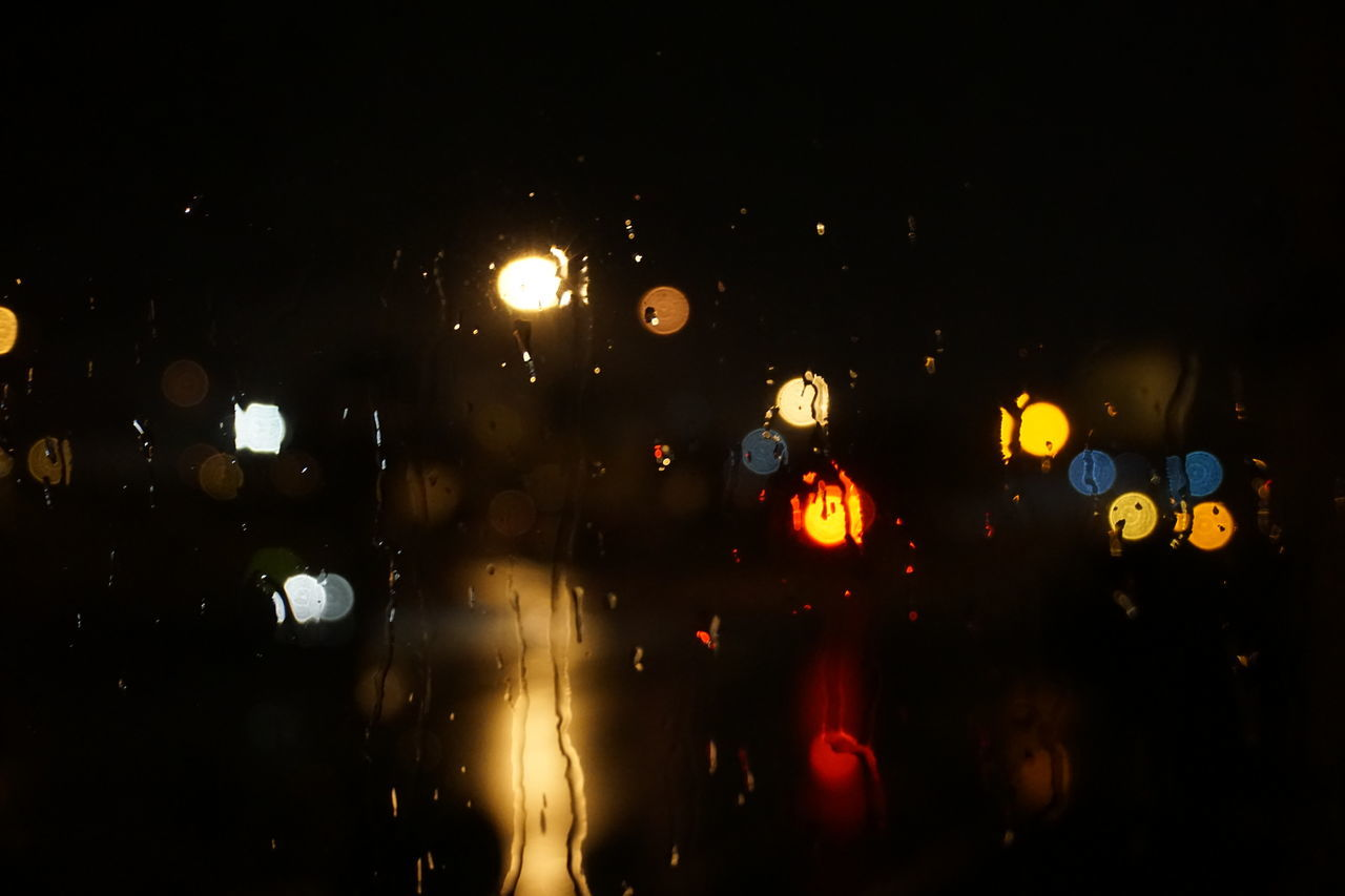 Night Sky No People Nature Outdoors Sony A6000 Rain Drops Rainy Window Water Droplets Bokeh Color Capture The Moment Backgrounds Textured  Close-up Full Frame Welcome To Black