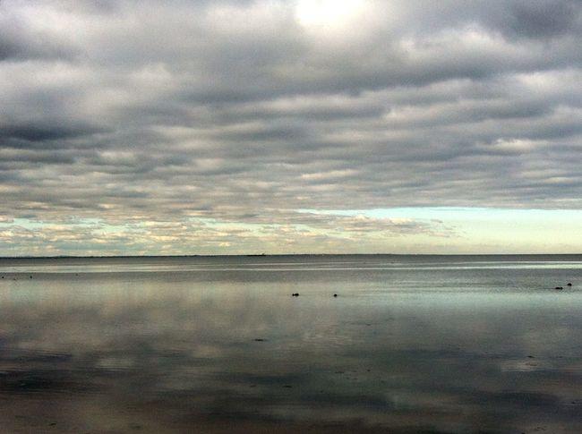 So beautiful🐚 Beautiful Clouds Beach Photography Water Reflections