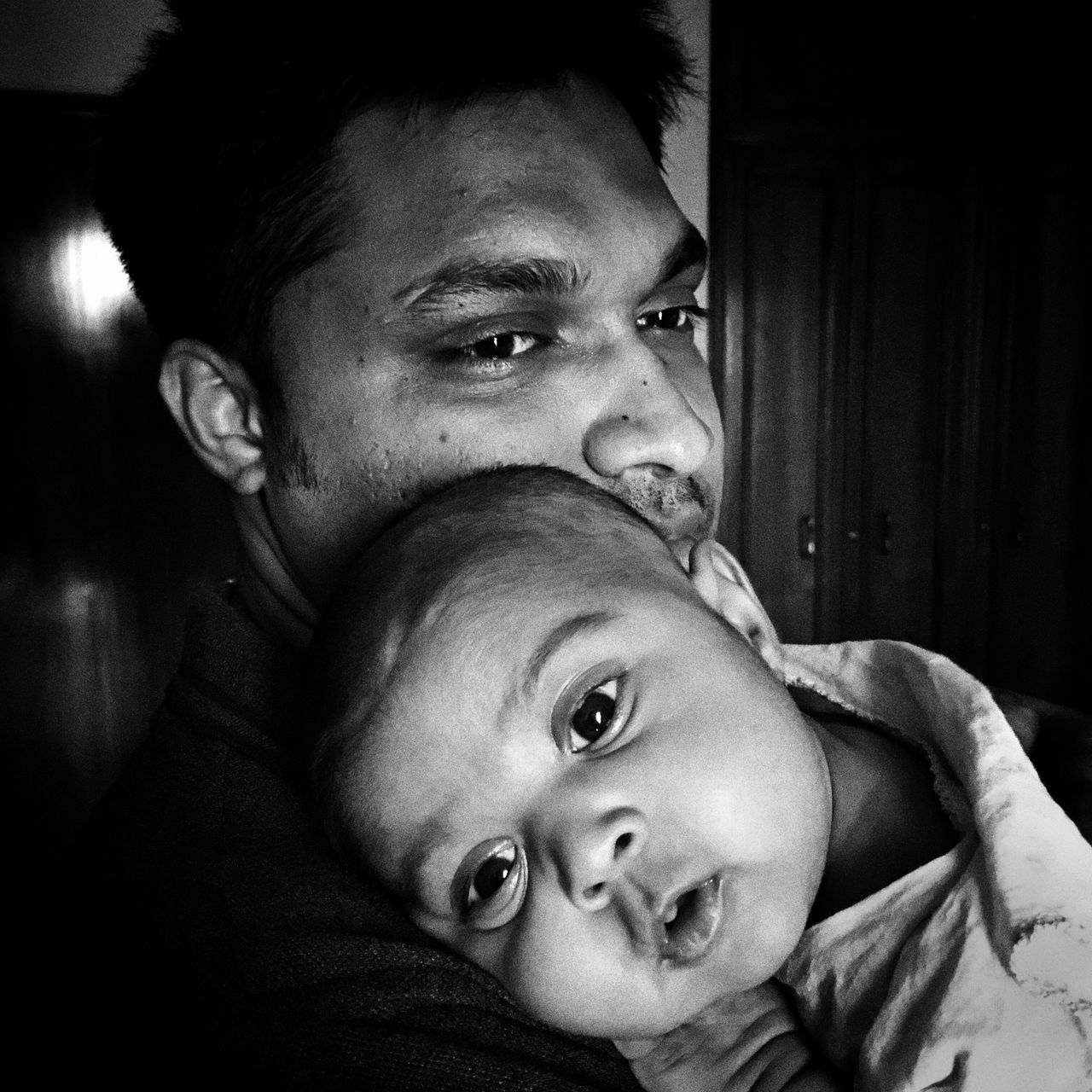 Father and his princess Istiak Karim Father And Daughter Fatherhood  Portrait Bnwportrait Love ♥ Princess Bonding Believe