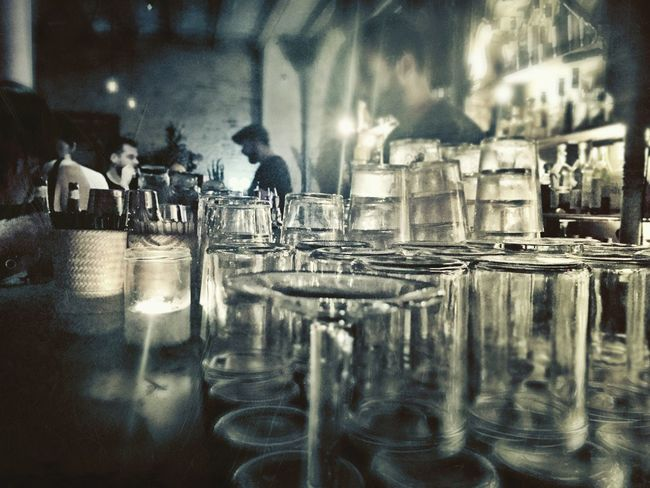 Bar Barcelona Barcelona, Spain Glass Glasses Low Light Low Light Photography Nightphotography Night Nightlife Night Out Barman Throughmyeyes IPhoneography Faded Depht Of Field Dim Light