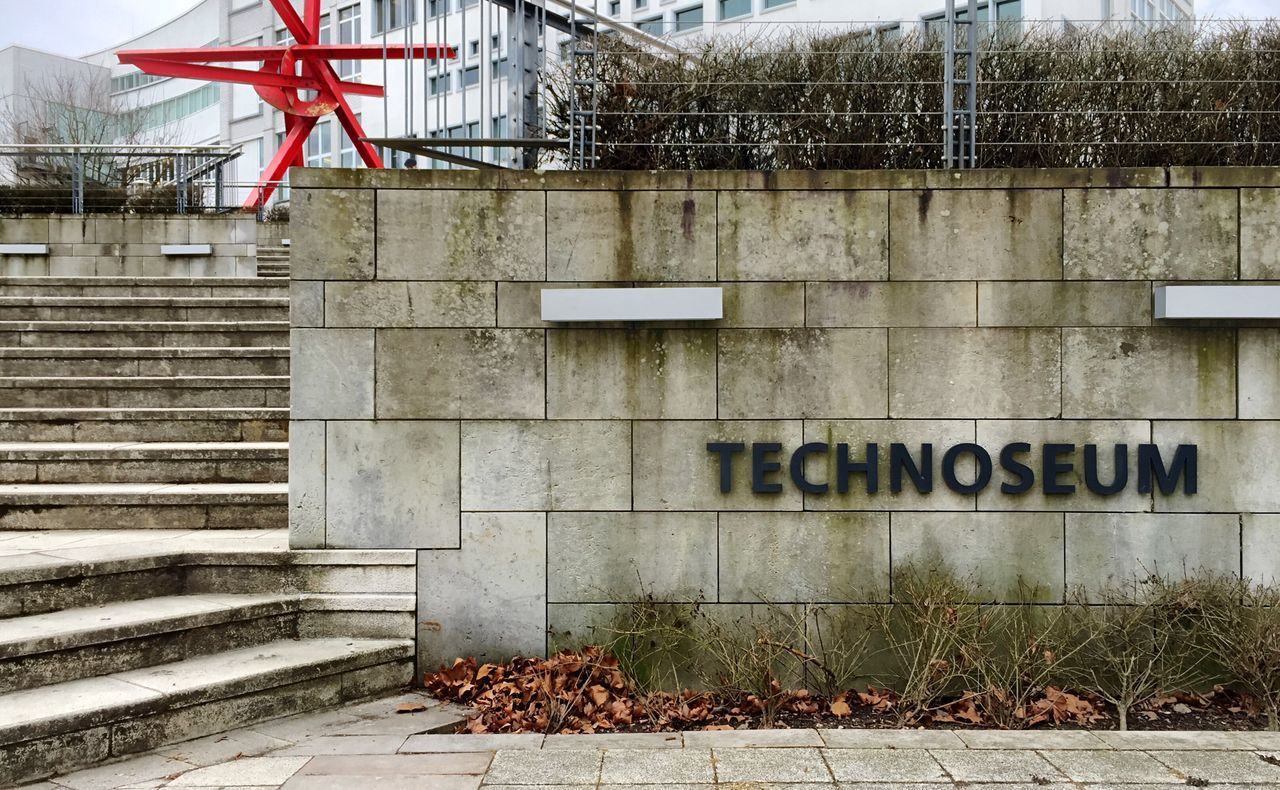 Technoseum, Mannheim Technoseum Mannheim Text Architecture Outdoors Communication Building Exterior Day City No People Museum