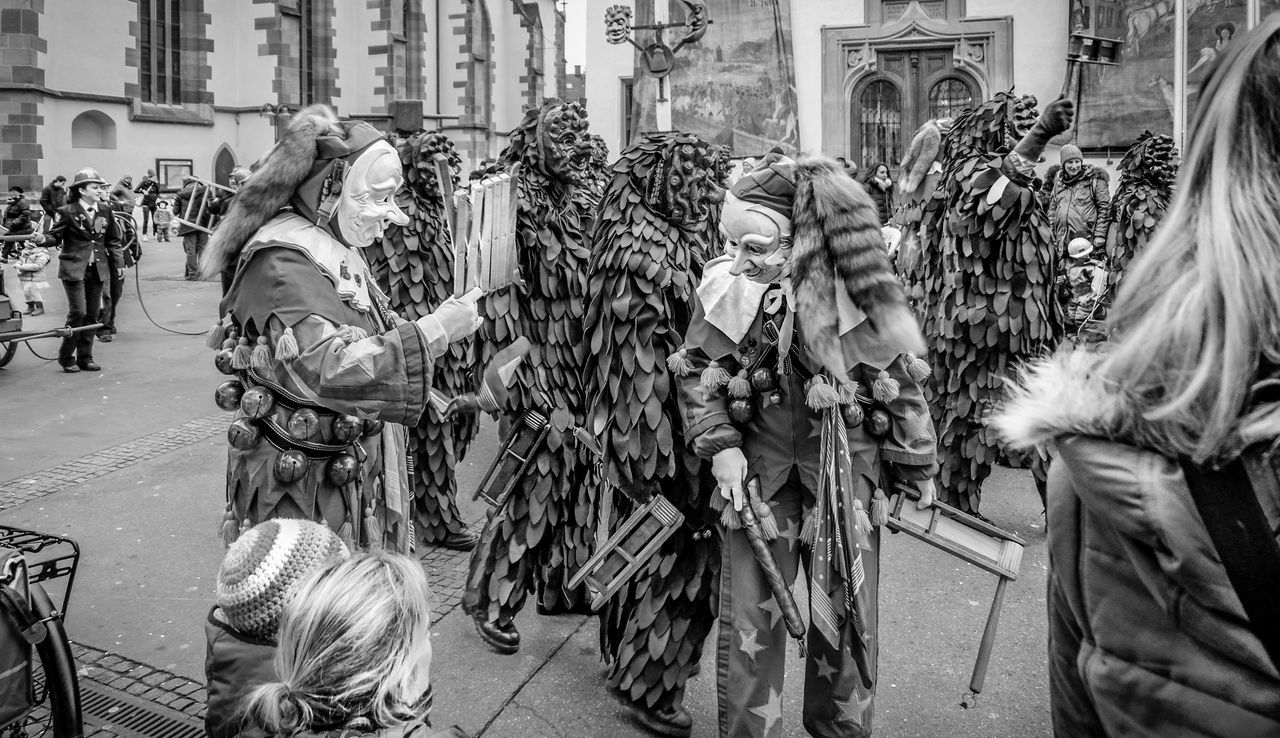 Karneval as a socialization context Adult Adults Only Architecture Black And White Blackandwhite Carneval Children City Crowd Day Fujifilm_xseries Karneval Large Group Of People Men Outdoors People Real People Schwarzweiß Women Women Around The World