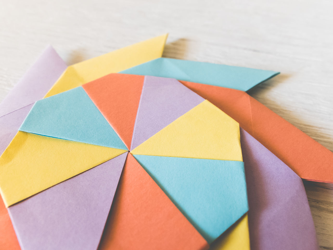 Close-Up High Angle View Of Paper Folding