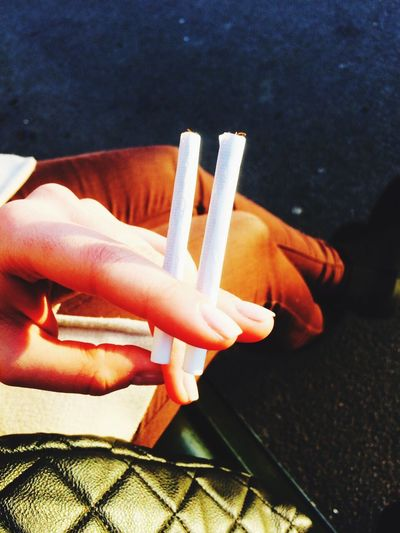 Taking Photos Cigarettes From My Point Of View Color Portrait The City Light