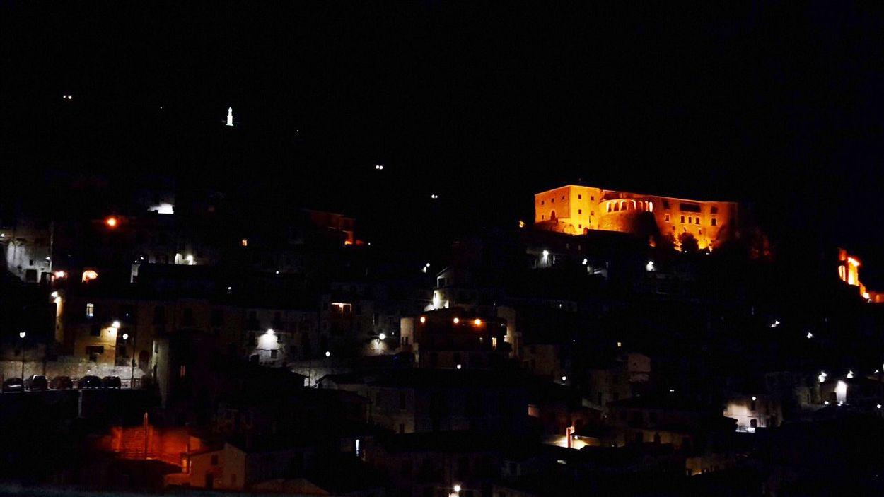 Muro Lucano.Lucania.Italia ---- dear hometown by night Night No People Illuminated First Eyeem Photo