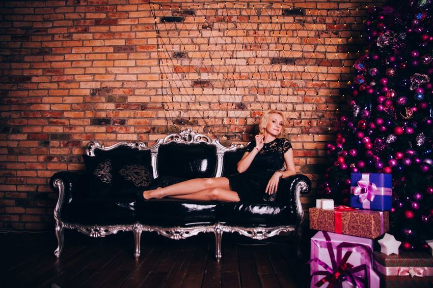 Brick Wall Adults Only Adult One Woman Only Women One Person Only Women People Indoors  Novosibirsk Долгополова елена фотосесия Living Room Fun Celebration Smiling Girls Long Hair One Young Woman Only Day Family Enjoyment Bonding Sitting