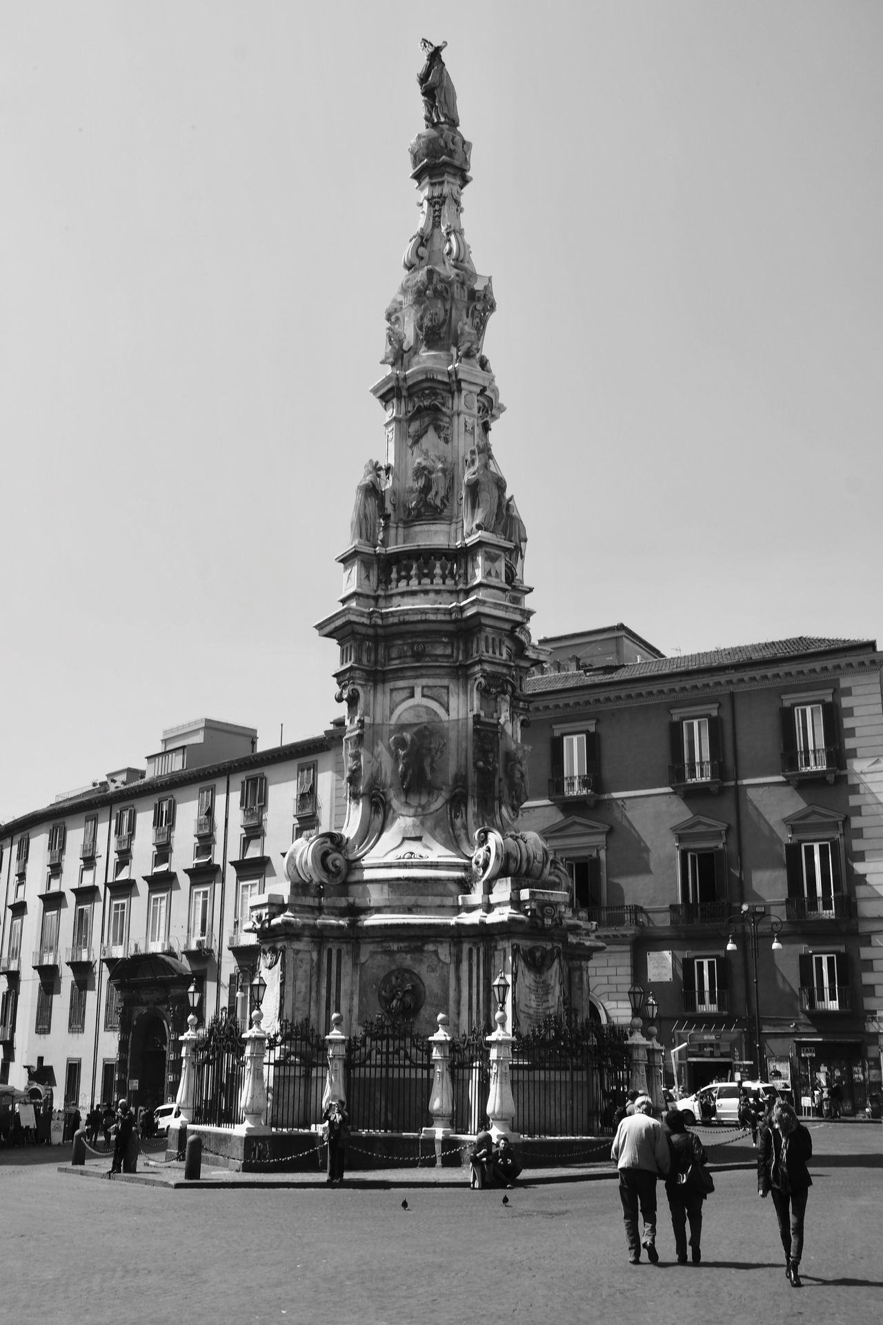 Architecture Built Structure Building Exterior Statue Sculpture Travel Destinations Tourism The Minimals (less Edit Juxt Photography) Discover Italy / With Ale History Art And Craft Travel Outdoors Clear Sky Real People Façade Day Large Group Of People City Architectural Column Sky Napoli Italy Italia