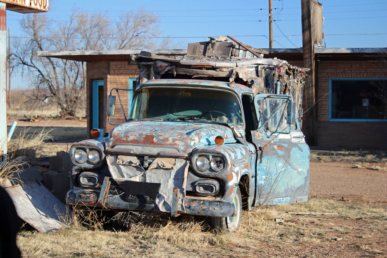 Route 66...New Mexico Abandoned Truck Antique Historic Old Vehicle Route 66 Travel Truck Vintage