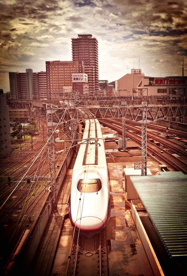 新幹線を上から。 Shinkansen Tohoku Shinkansen Super Express Train Railway Tadaa Community Terminal Station Sendai Miyagi My Point Of View Hello World Cloud And Sky From My Point Of View