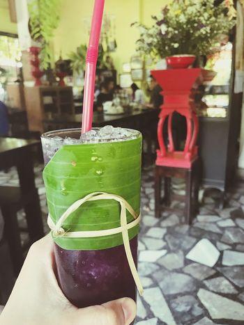 Fresh Herbal Herbal Tea Drink Beverage Thristy Violet Butterflypeahoneylemon Thailand Butterflypeatea