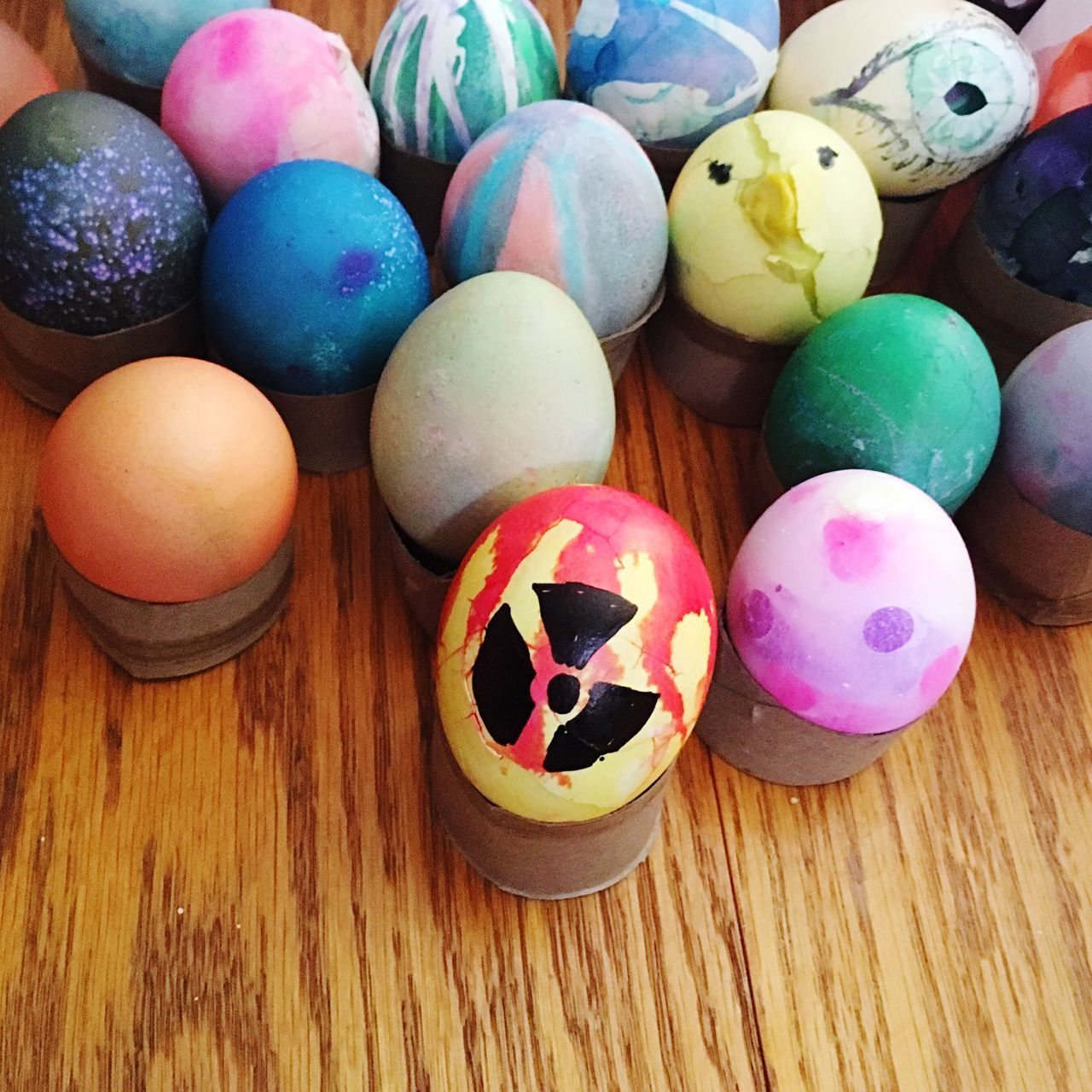 Resist Easter Nuke Egg Easter Egg Celebration Multi Colored Cultures Tradition Indoors  Holiday - Event Paint Food No People Close-up Day