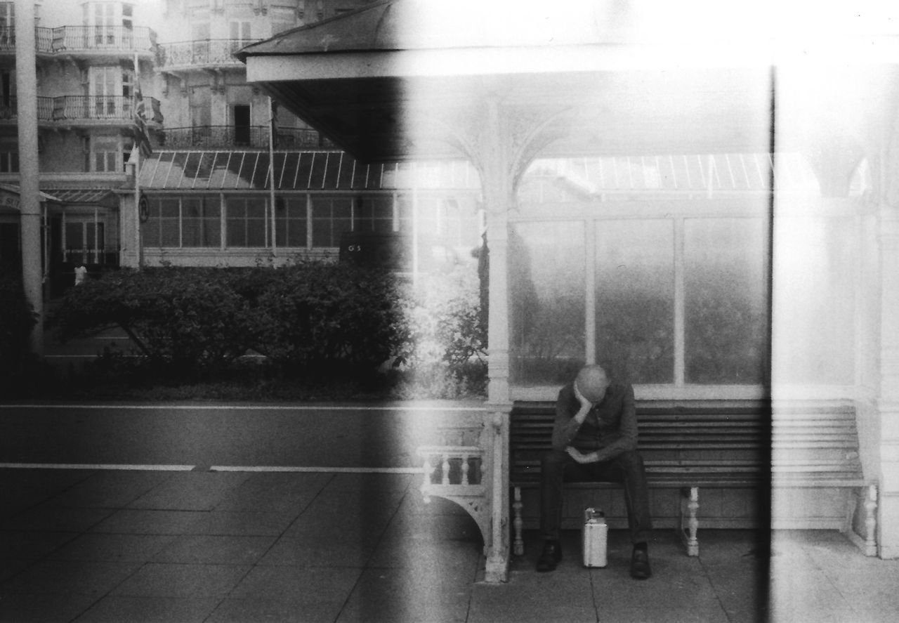 35mm Analogue Photography Architecture black and white one person real people