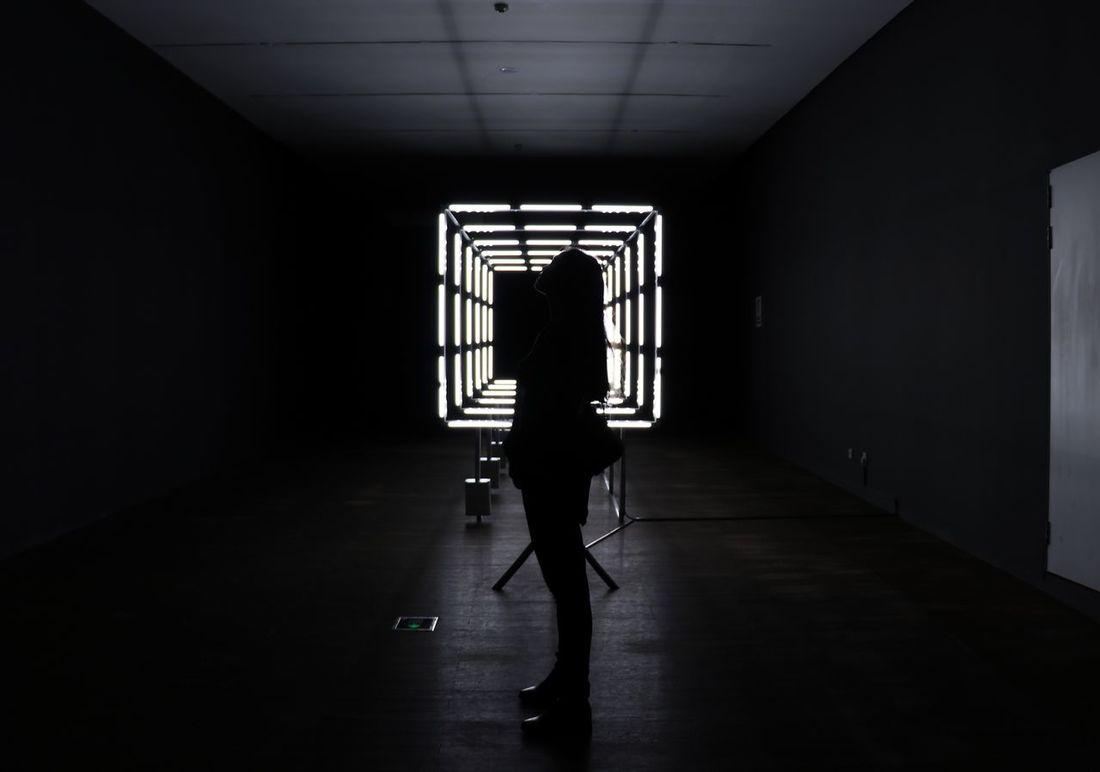 透明的声音at MSMS Indoors  Light Darkness And Light Self Portrait Visions
