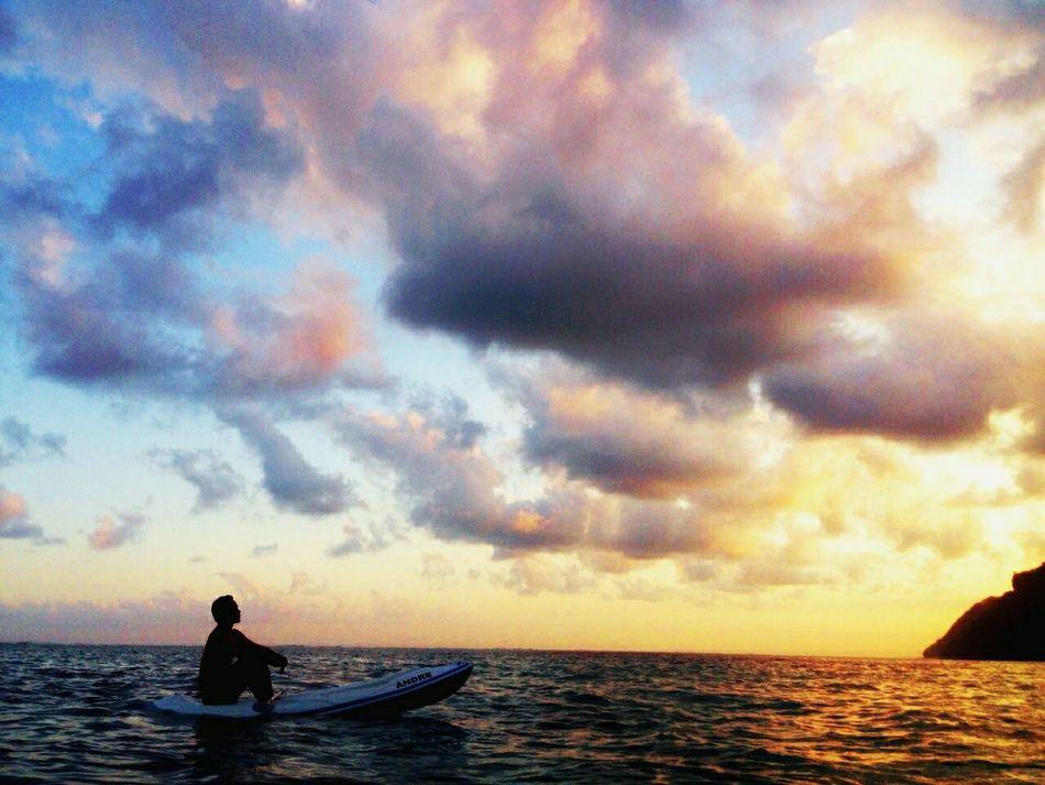 Kano-ing , Enjoying The Sun Getting A Tan Beautiful Bali, Indonesia Sunset #sun #clouds #skylovers #sky #nature #beautifulinnature #naturalbeauty #photography #landscape