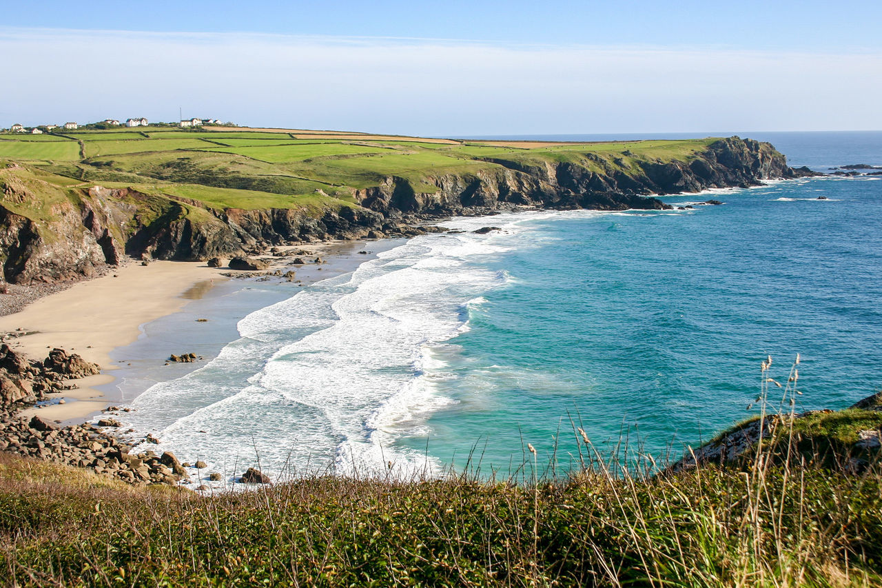 Sea Beauty In Nature Beach Nature Water No People Outdoors Landscape Travel Destinations Horizon Over Water Cliff Cornwall Uk England Bedruthan Steps Mawgan Porth Vacation