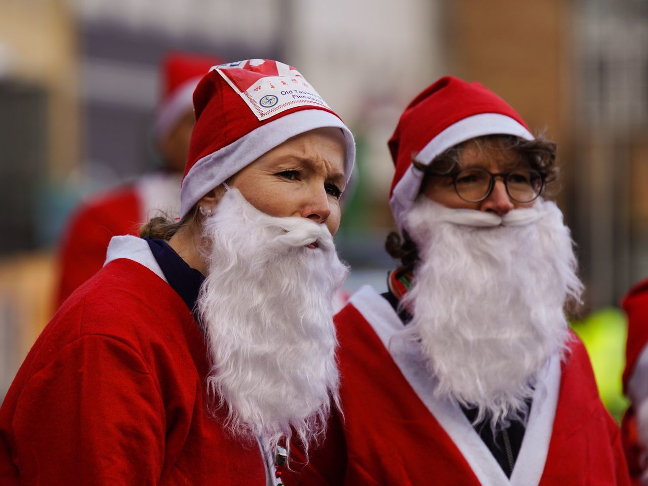 Beautiful stock photos of weihnachtsmann, two people, red, christmas, real people