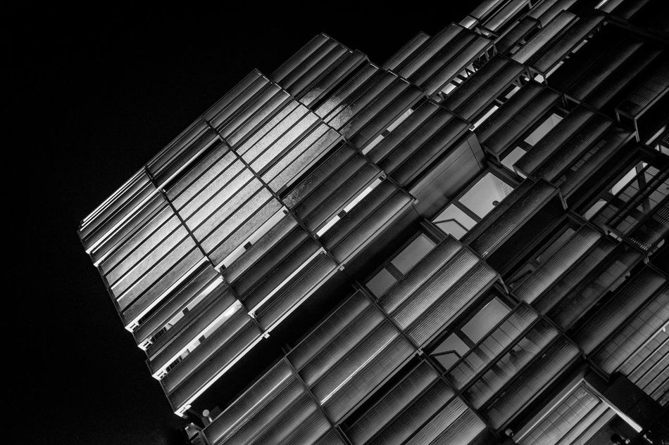 Architectural Feature Close-up Full Frame Low Angle View Modern Monochrome No People Repetition Sky Skyscraper Tilt