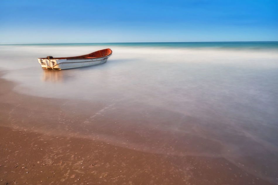 Row, row, row your boat... Boat Destination Dream Dreaming Fight Horizon Over Water Landscape Life Long Exposure Nature Nd1000 Nikon Nikon D7200 Ocean Oman Sea Seascape Sky Struggle Tamron Tamron 15-30mm Tranquility Travel Vacations Water First Eyeem Photo