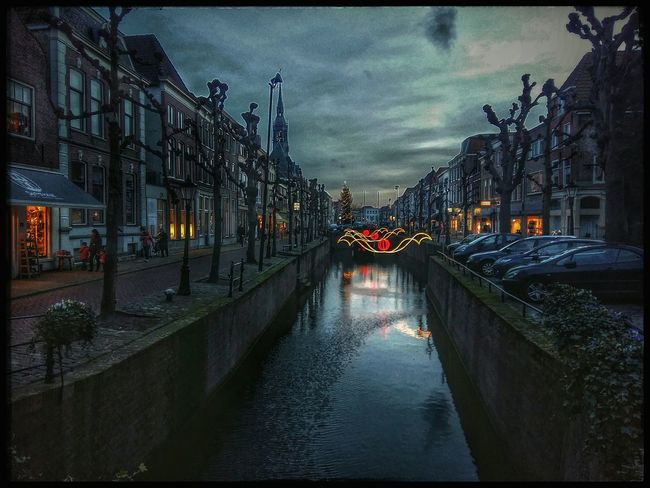 Sightseeing in Schoonhoven. Holiday Lights Nice Atmosphere From My Point Of View Reflections Light And Shadow Mobile Photography Enjoying Life Sightseeing Snapseed Editing  Hdr Edit