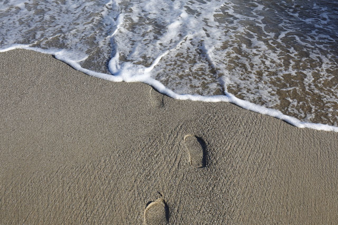 Beach Photography Footprints Nature Photography Beach Beachphotography Beauty In Nature Day Footprints In The Sand High Angle View Nature Nature_collection No People Ocean Ocean Waves Outdoors Pattern Sand Sea Seascape Seaside Water Water_collection Waterfront Wave Waves, Ocean, Nature
