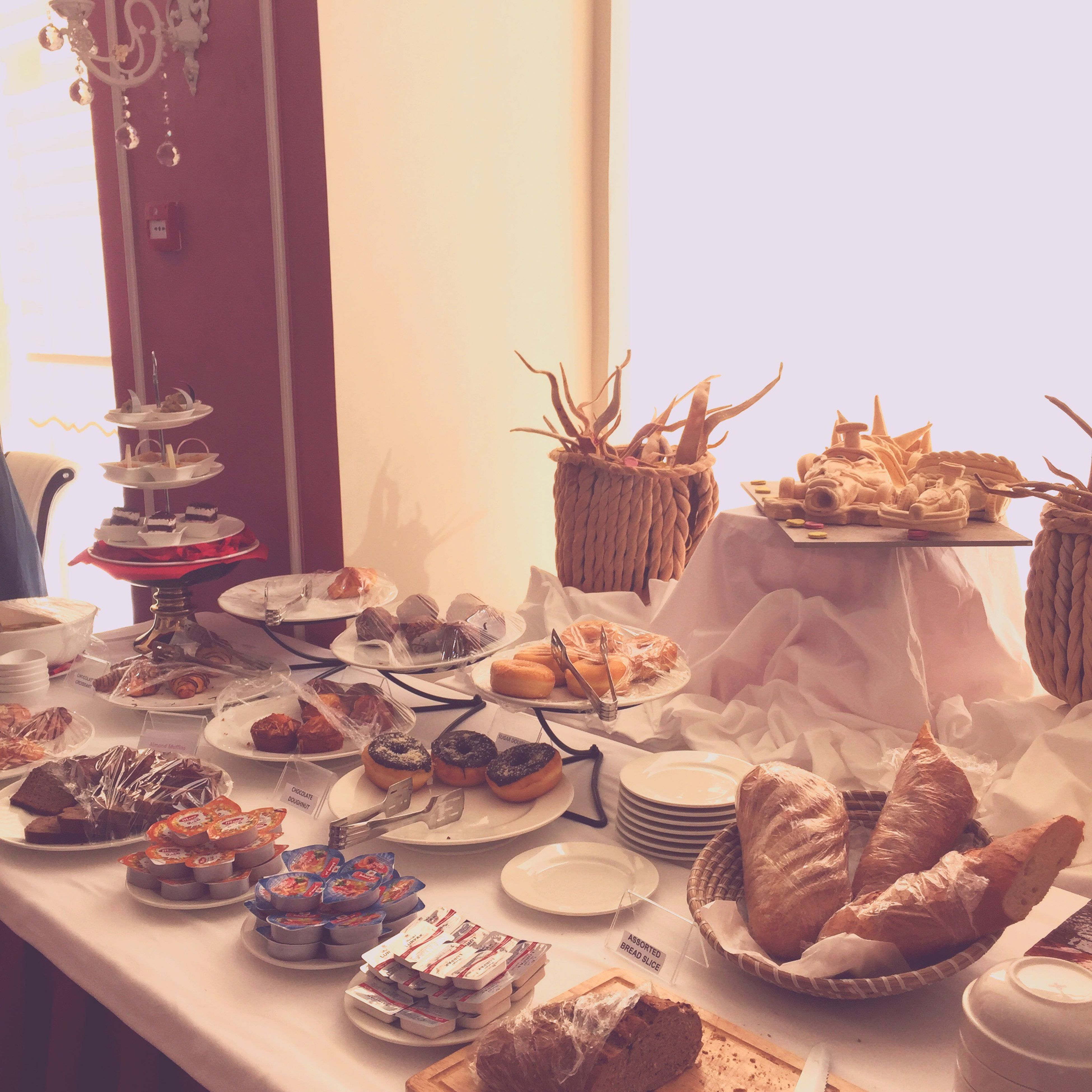 indoors, table, food, still life, food and drink, freshness, plate, home interior, decoration, large group of objects, sweet food, arrangement, no people, variation, glass - material, ready-to-eat, cake, close-up, abundance, dessert