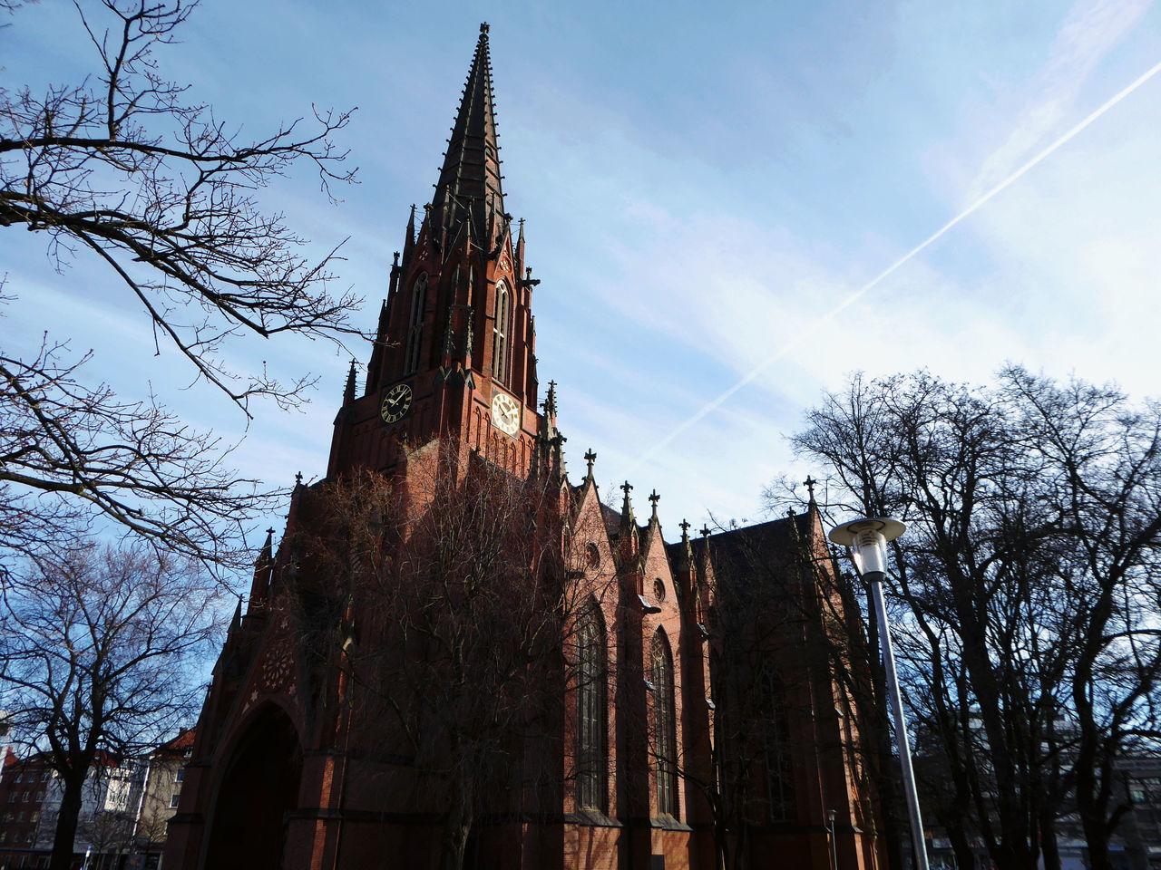 Favorite Churches In My Town Christuskirche Hannover Built Structure Architecture Bare Tree Blue Sky