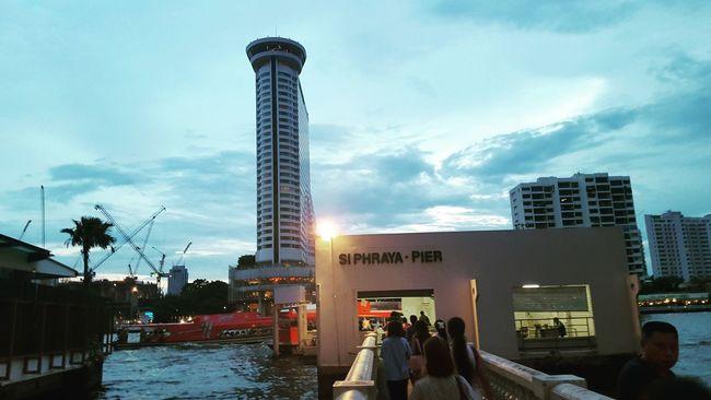 Enjoying The Sights Ferris Wheel Relaxing Bright Lights Pier Bangkok Thailand river First Eyeem Photo