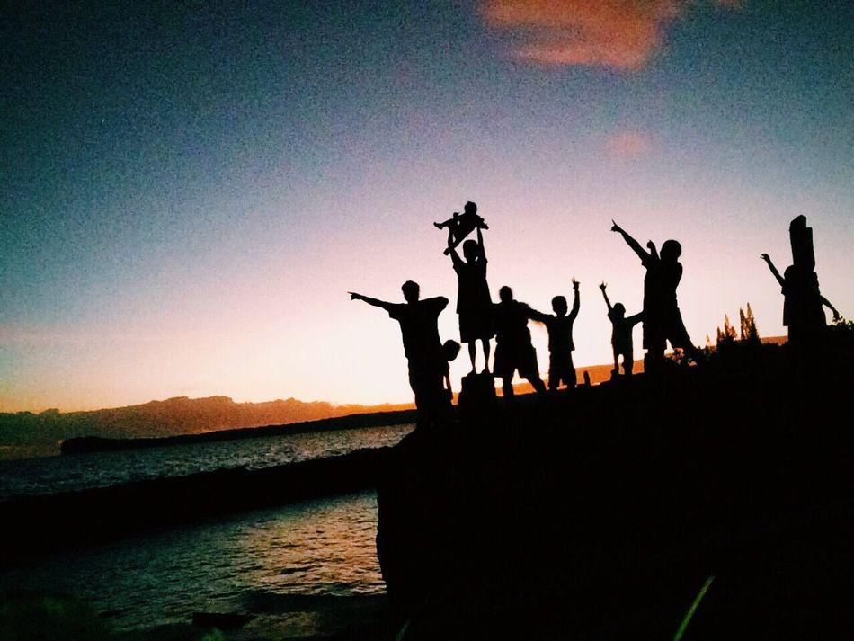 Hello World Taking Photos Enjoying Life Drehu Lifou Newcal Kanaky Sunset Silhouettes Hi! Oklm👌