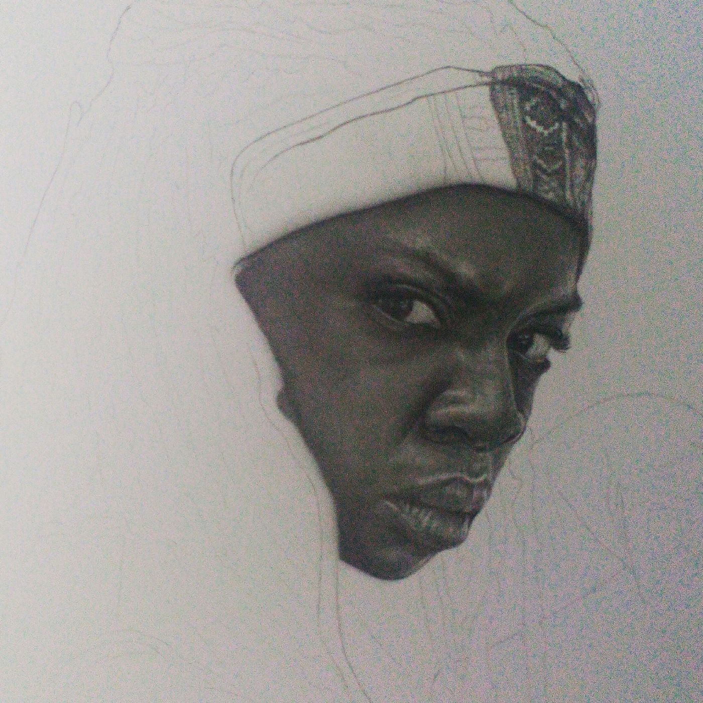 Way 2 dark for a good photo but a little progress in my drawing of michonne Thewalkingdead Michonne Walking Dead Michonne Sword Drawing My Drawing Fanartdrawings