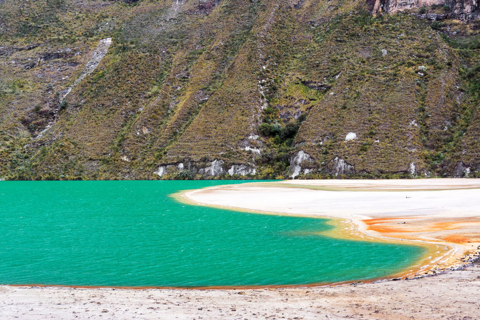 Beautiful turquoise lake in the Andes mountains near Huaraz, Peru Ancash Andes Beautiful Blanca Blue Cordillera Huaraz Huascaran Lagoon Laguna Lake Landscape Mountain National Park Nature Peru Rock Scenic South America Tourism Travel Turquoise Vacation White