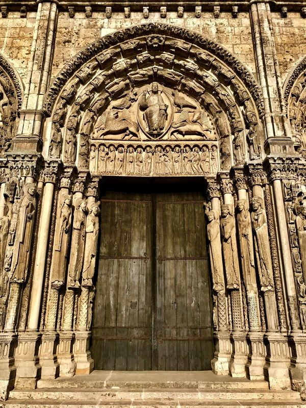 Chartres Cathedral Portal Wood Prints