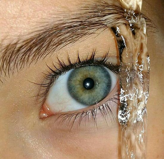 Human Eye Human Body Part Eyelash Blue Eyes People Looking At Camera One Person Adult Eyesight Portrait Only Women One Woman Only Close-up Adults Only Iris - Eye Sensory Perception Human Face Mascara Full Frame Eyebrow Blue