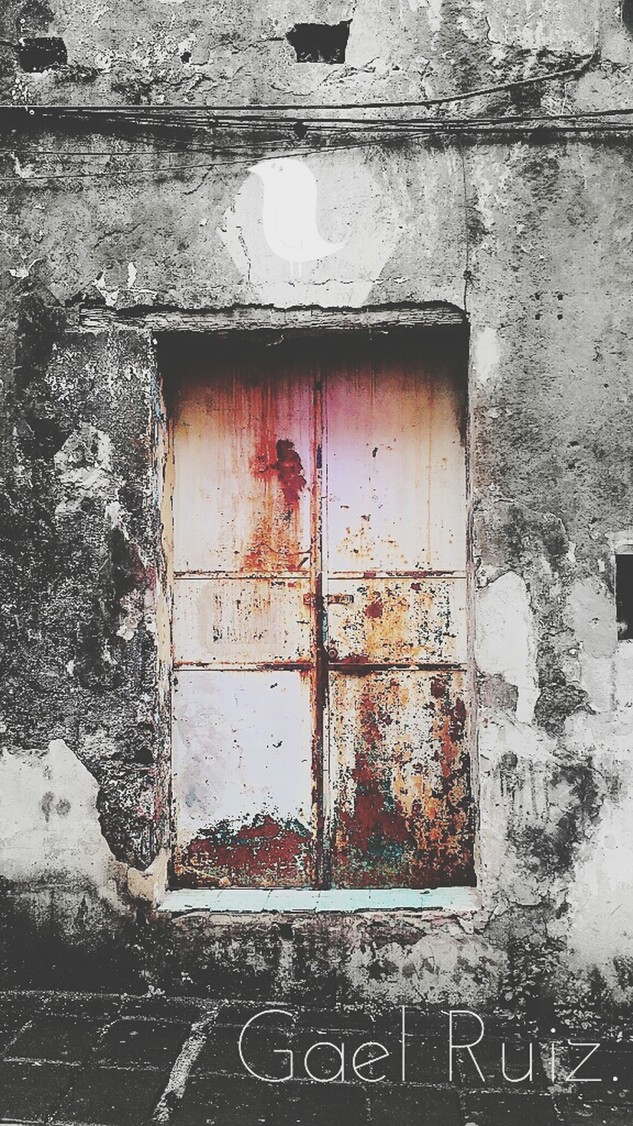 architecture, built structure, building exterior, window, weathered, wall - building feature, door, old, street, closed, day, abandoned, building, outdoors, damaged, no people, house, wall, deterioration, transportation