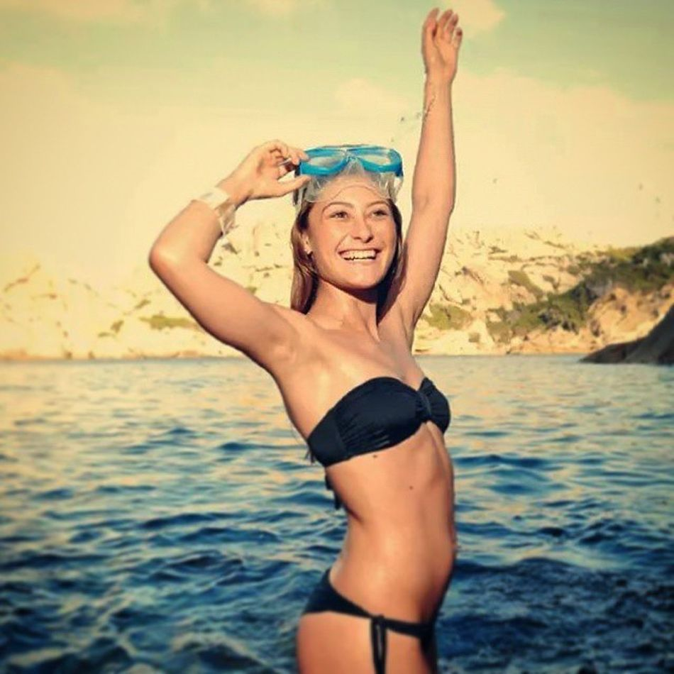 Funny day Nikon Photographer Sardinia Lifestyle Young Woman Summer Beachwear Capotesta Santateresadigallura Portraits D300 Beauty Location Funny Smiling Cute Photos Portraits Happy Sea Water Holiday