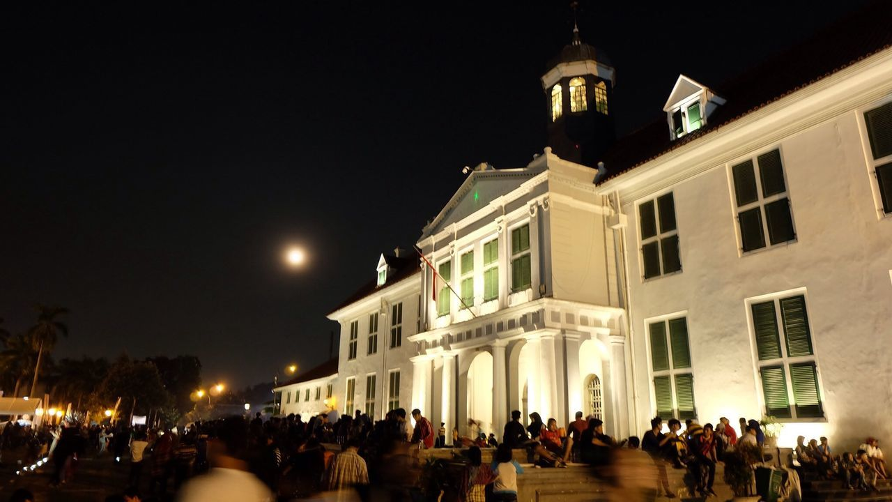 Museum Sejarah Jakarta (Museum Fatahiah)  malam hari , Night Lights Architecture Explore Jakarta
