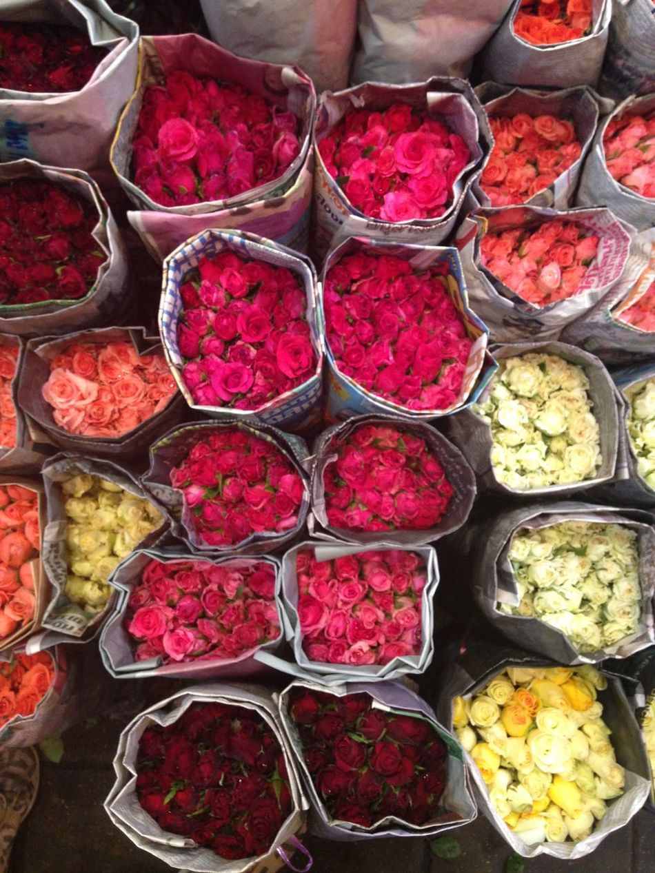 Abundance Arrangement Choice Day Flower Flower Market Food Freshness Healthy Eating High Angle View In A Row Indoors  Large Group Of Objects Multi Colored No People Order Petal Retail  Variation