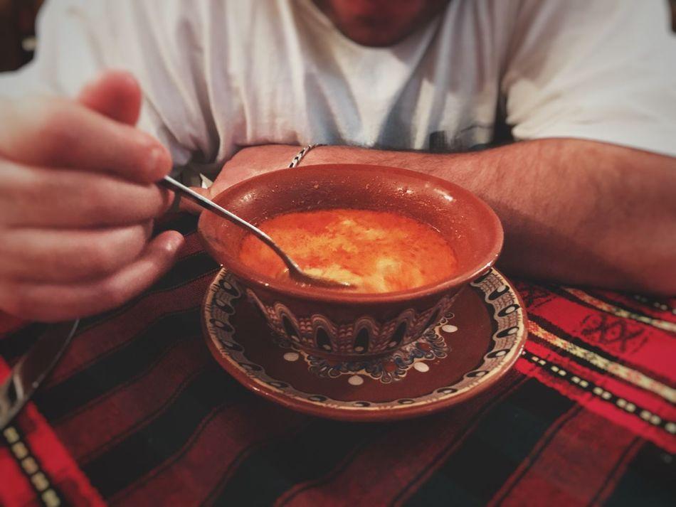 Man Eating Shkembe Chorba Shkembe Shkembe Chorba