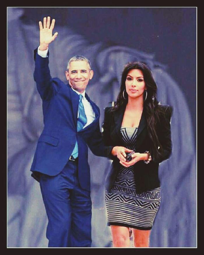 Barak Obama Kim  Kim Kardashian Selfienation Hello World Americanhorrorstory Taking Photos Check This Out EyeEm