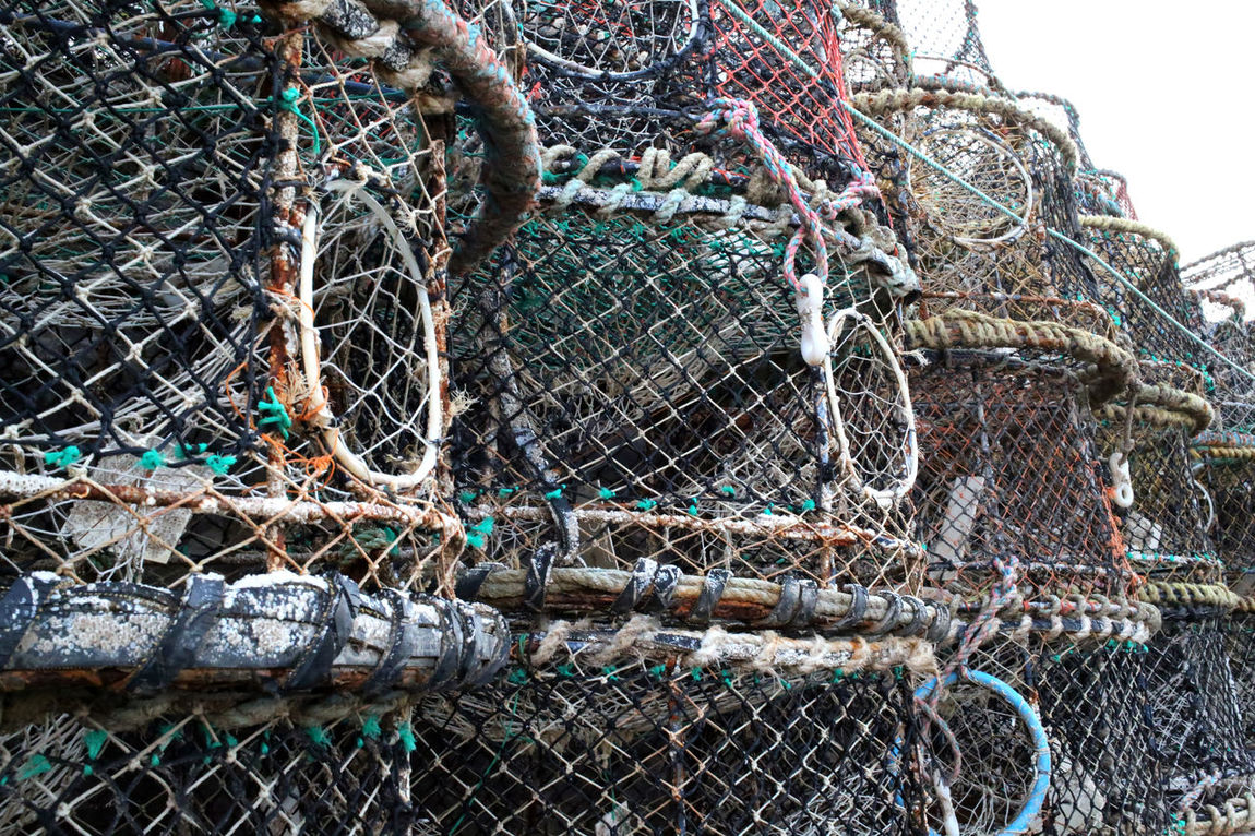 """""""Fishing Trawl in Brigham Harbour"""" Brixham  Close-up Commercial Fishing Devon Fishing Fishing Town Harbour No People Outdoors Pots Seaside Trawling Uk Weathered"""