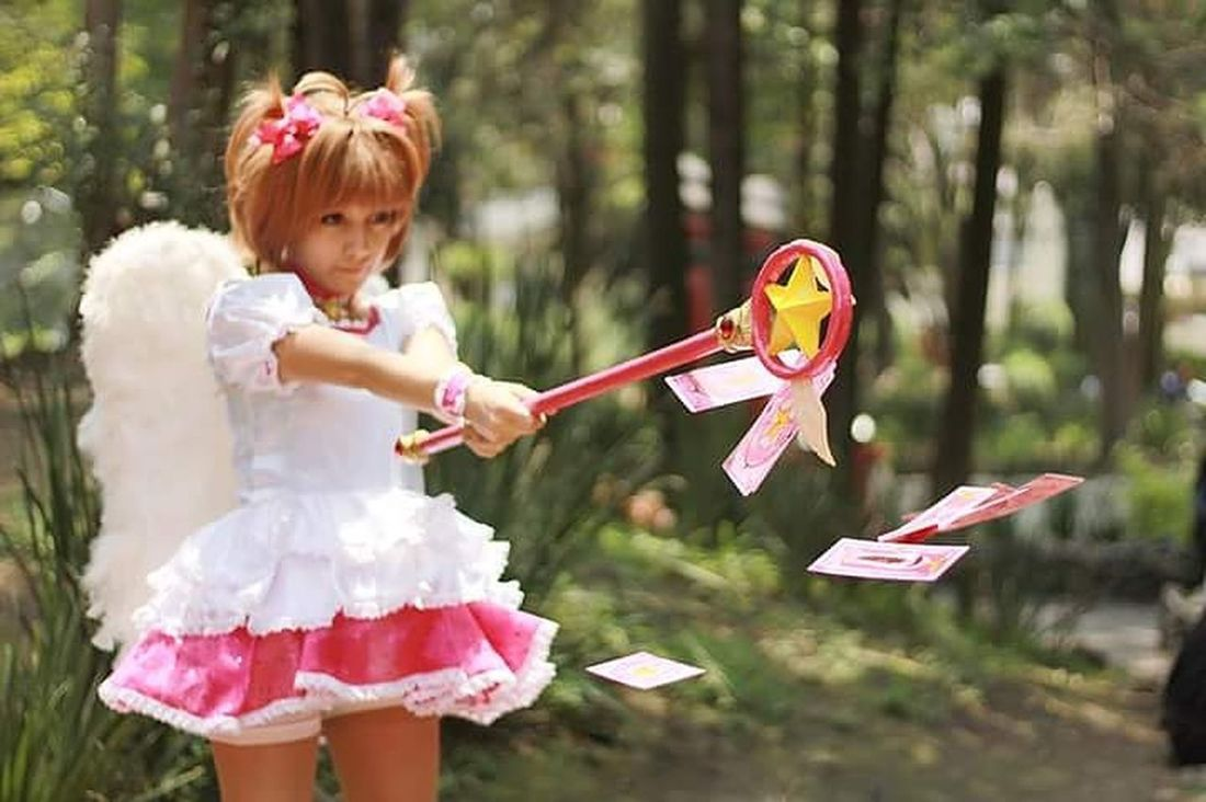 Sakuracardcaptor Sakurakinomoto Cosplay Cosplay Shoot Cosplay Photography Cosplay<3 Cosplayer Cosplaygirl Cosplay Photo Child Girls Children Only Childhood Cute Fantasy People One Girl Only Redhead Fun Playing Outdoors Cheerful Happiness Celebration Excitement