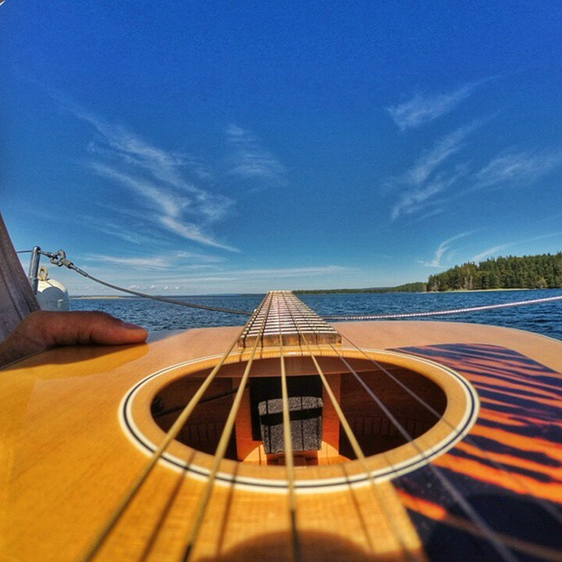 Bridge to Music • GibsonView Shot this on my Cape Breton Sailing trip with Greg on The Misty Cat. We lucked out with the weather and spent a beautiful afternoon on Lake bras d'Or. Will write the story down next. • TstGuitar with @gibsonguitar • TstGoPro with @gopro • Tstcanada with @explorecanada & @visitnovascotia • ExploreCanada VisitNovaScotia Gibson GoPro • Travel Canada NovaScotia CapeBreton Sailing •