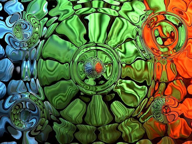 Backgrounds Multi Colored Abstract Green Color No People Full Frame Indoors  Beauty Leaf Flower Concentric Close-up Day Hintergrundgestaltung Background Backcloth_MSB Green Art Abstract Photography